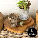 チークウッドの輪切りステージトレイ (L-約1.5cm)[約20x1.5cm](11830)【トレー トレイ ステージ 木製 シンプル ナチュ…