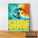 【SURF】ヴィンテージ風 サインボード(65267)【サインプレート アンティーク調 ブリキ看板 ヴィンテージ調 デザインボード アンティーク風 TINプレー...