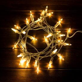 【 電池式 】 LED ストリングライト 3m 30球 ホワイトコード (66513)【 イルミネーション デコレーション ライト 電飾 装飾 飾り 室内 間接照明 ディスプレイ 子供部屋 インテリア 壁 オーナメント クリスマス 誕生日 ガーランド オブジェ おしゃれ かわいい 乾電池 】