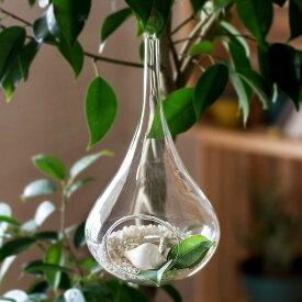 ハンギングガラスケース(62100-CL)ハンギング テラリウム 花器 エアプランツ 観葉植物 グリーン ガラスケース 小物入れ ディスプレイ雑貨 インテリア雑貨