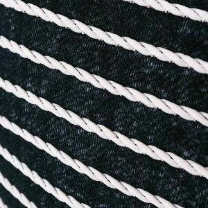 【メール便対応】クッションカバーロープケーブルボーダー柄ネイビー×ホワイト約45×45cm正方形[66563]【ソファークッションベッドクッション45角ストライプボーダーおしゃれ可愛い北欧プレゼントギフト西海岸マリンカジュアル】