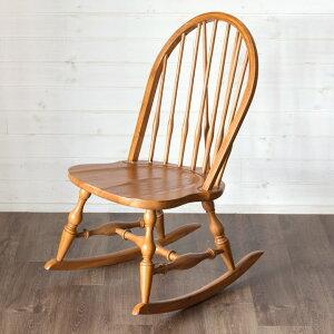 ロッキングチェア 木製 ウィンザーチェア コンパクトサイズ ブラウン [91341] 【 椅子 揺れる リラックスチェア 幅47cm ボウバック おしゃれ アンティーク調 北欧 ヴィンテージ レトロ ビーチハ