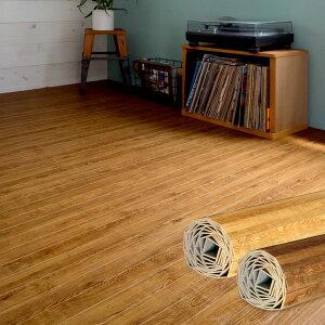 【1梱包タイプあす楽対応品】【低ホルマリン】ヴィンテージウッドカーペット江戸間3畳用約175×260cmPJ-40シリーズフローリングリフォームフローリングカーペット木製3帖和室かーぺっとマットおしゃれPJ-45