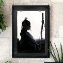 アートポスター モノトーン インディアン 70×50cm [66719]【 アートパネル 壁掛け インテリア モノトーン 壁飾り 絵 …
