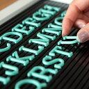 【メール便対応】レターボード用文字パーツ アルファベット 191ピース (グリーン)[66755]【 文字パーツ 英語 数字 …