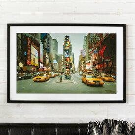 アートパネル 写真 風景 ブロードウェイ フレーム付き 幅90cm [91354]【 アートフレーム ポスター 壁掛け 絵画 カラー アートボード フォトパネル ウォールデコレーション 額縁 黒フレーム インテリア おしゃれ ニューヨーク ブルックリン 】