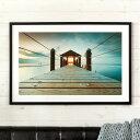 アートパネル 写真 風景 桟橋 海 フレーム付き 幅90cm [91355]【 アートフレーム ポスター 壁掛け 絵画 カラー 橋 ア…