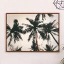 【割引クーポンあり】アートパネル パームツリー 植物 空 夕日 夕焼け 写真 アートフレーム 約50×70cm [66948]【 ア…