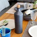 ボトル 信楽焼 ラジウムボトル ブルー ブラック [90098]【 焼物 ウォーターボトル お酒 日本酒 焼酎 日本製 丸十製陶 】
