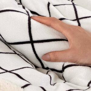 こたつ布団グリッドデザイン格子柄長方形幅約190×240cm裏面フランネルフリースホワイト[83054]【こたつ西海岸おしゃれこたつ掛け布団コタツ布団こたつ用品炬燵北欧ナチュラル白色薄掛けボアフリース暖房器具かわいい可愛いこたつぶとん】