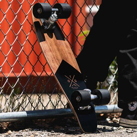 スケートボード スケボー ミニクルーザー ウッド 木製 ペニータイプ ブラック 黒 [66981-bk]【 スポーツ アウトドア ストリート クルージング サーフィン スケート ボード キッズ 子供 ミニ 小さい 小さめ おしゃれ クール 男性 女性 ユニセックス 西海岸 カリフォルニア 】