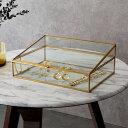 ガラスと真鍮でできたジュエリーボックス(63210) 【 ガラス ジュエリーボックス アクセサリーボックス ディスプレイ …