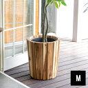 プランターカバー ウッドプランター ボックス カバー Mサイズ 7号鉢 W 36cm D 36cm H 40cm 天然木 木製 観葉植物 [512…