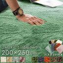 【バスマット付き】 ラグ ラグマット 洗える 200×250cm フラッフィラグ 【 ラグカーペット 長方形 厚手 マイクロファ…