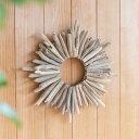 流木リース クリスマスリース 壁掛け 円形 ウッドリース 壁掛け ウォールデコレーション 木製 流木 リース オブジェ …