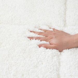 ラグラグマット約140×200cm洗える洗濯可ウォッシャブル3Dデザインマット立体[66929]【カーペットマット強力滑り止め付きおしゃれ白ホワイト長方形シャギー床暖房対応ホットカーペット対応ふわふわ北欧西海岸サーフスタイル】
