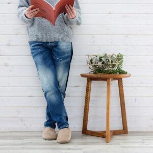 サイドテーブル円形木製40cmブラウン茶[91205]【テーブルソファテーブルナイトテーブルベッドテーブルベッドサイドベッドソファ丸ウッド木目高さ50cmおしゃれ北欧西海岸モダンナチュラルシンプル】