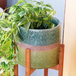 植木鉢 鉢カバー 直径18cm 陶器 テラコッタ [98918]【 ポット ガーデン雑貨 インテリア グリーン ツートーン おしゃれ 貫入加工 】