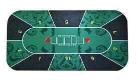 テキサスホールデム ポーカーマット 60×120cm レイアウト プレイマット ラシャ 収納袋付き