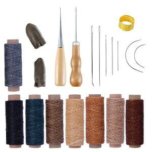 レザークラフト 工具 道具セット 裁縫 針 糸 ワックスコード