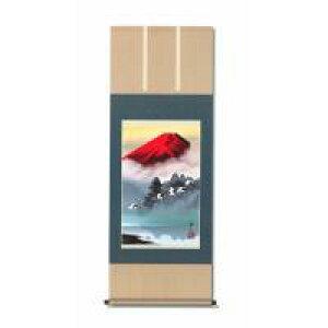 鈴村秀山 掛軸 「赤富士飛翔」 1256840