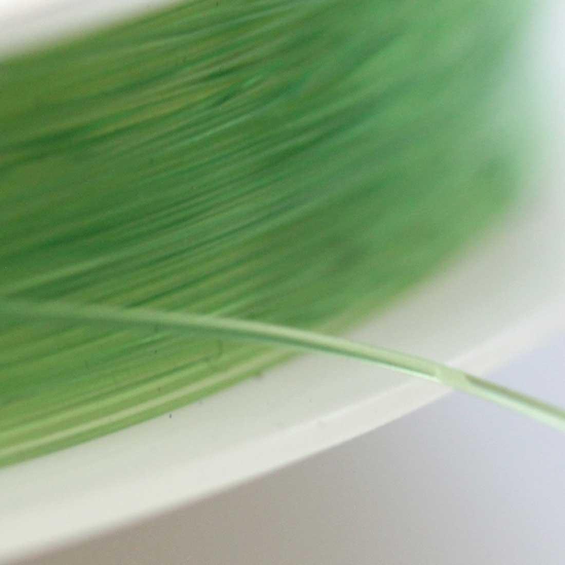 ブレスレット用 オペロンゴム 【0.5mm/12M】【グリーン】sgy-1203g【メール便可】(ブレスレット用ゴム ゴム紐 ゴムひも テグス パワーストーン 天然石 ブレスレット 水晶の線 緑 緑色)