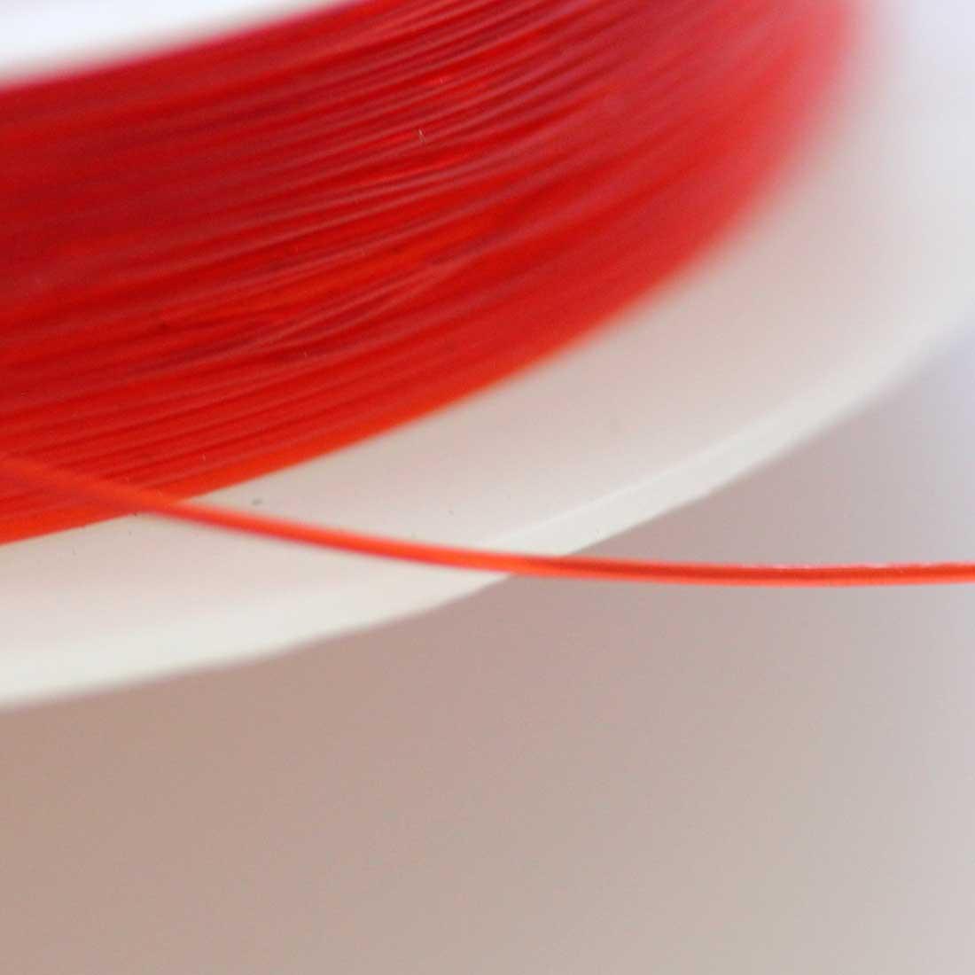 ブレスレット用 オペロンゴム 【0.5mm/12M】【レッド】sgy-1203h【メール便可】(ブレスレット用ゴム ゴム紐 ゴムひも テグス パワーストーン 天然石 ブレスレット 水晶の線 赤色 赤)