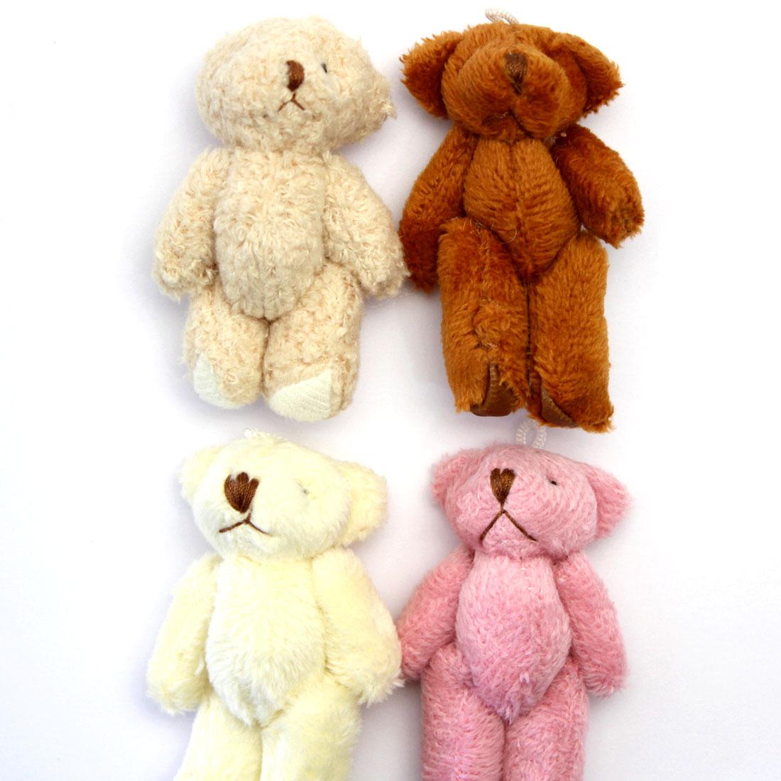 くまのぬいぐるみ 1個 [4色から選択][体長約6cm, ループ紐付き]sgy-1480-abcd(キーホルダー ストラップ パーツ, かわいい くま クマ 熊 ベアー ぬいぐるみ ミニくま ベージュ ブラウン オフホワイト ピンク)