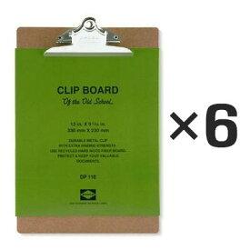 【6個セット】ペンコ クリップボード オールドスクール A4 DP110 クリップホルダー クリップ バインダー おしゃれ かっこいい 文具 タテ 縦 ファイル アメリカ HIGHTIDE ハイタイド