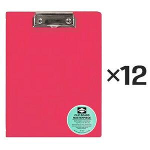 【12個セット】ペンコ 二つ折り クリップボード A4 ピンク DP3297 クリップホルダー クリップ バインダー おしゃれ タテ 縦 ファイル 折りたたみ HIGHTIDE ハイタイド