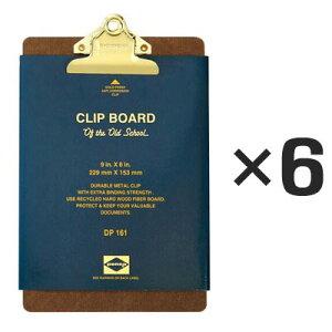 【6個セット】ペンコ クリップボード オールドスクール ゴールド A5 DP161 クリップホルダー クリップ バインダー おしゃれ かっこいい 文具 タテ 縦 ファイル アメリカ HIGHTIDE ハイタイド