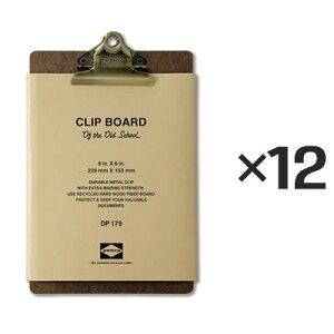【12個セット】ペンコ クリップボード オールドスクール ブロンズ A5 DP179