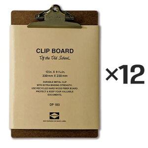 【12個セット】ペンコ クリップボード オールドスクール ブロンズ A4 DP180