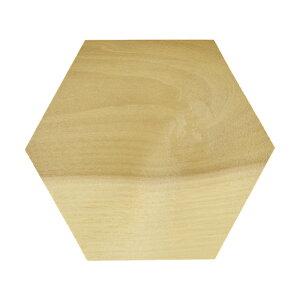 木製 六角形 朴 100x10mm 木材 木工 材料 板材 素材 工作 DIY 角材 ヘキサゴン パネル コースター