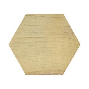 木製 六角形 朴 70x15mm 木材 木工 材料 板材 素材 工作 DIY 角材 ヘキサゴン パネル コースター