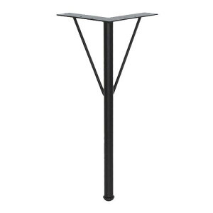 Ironna 鉄脚 黒(ブラック) 370 1本 取付用ねじ付 14.5×35.7×14.5cm