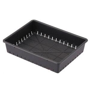 育苗箱 35型 スミグレー 34.5×27×7.5cm【アップルウェアー 黒トレー 4905980302143】