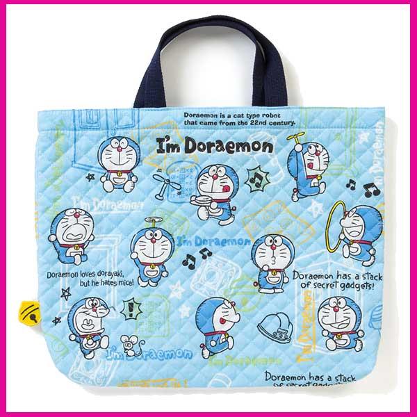 ドラえもん キルト手提げバッグ 「ロゴ」!入園・通園・通学♪キルティング レッスンバッグ!サンリオ