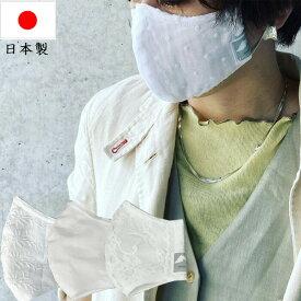 【あす楽 在庫あり】日本製 立体 マスク MF20207 レースマスク ドットオーガンジー カットドビー オルテガ柄 スカラップレース レース マスク 綿100% 綺麗なシルエット 大人用 高級 洗える オールシーズン 春 夏 秋 冬 マスク 涼しい ふつう 敏感肌 素敵 おしゃれ 贈り物