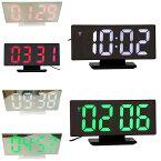 デジタルLED時計ミラーデジタルLEDアラーム時計デジタル表示LED表示ミラー目覚まし時計置き時計USB給電USBケーブル付属時刻・設定記憶用補助電池付属アラーム機能スヌーズ機能付き日付表示温度表示【365日発送】