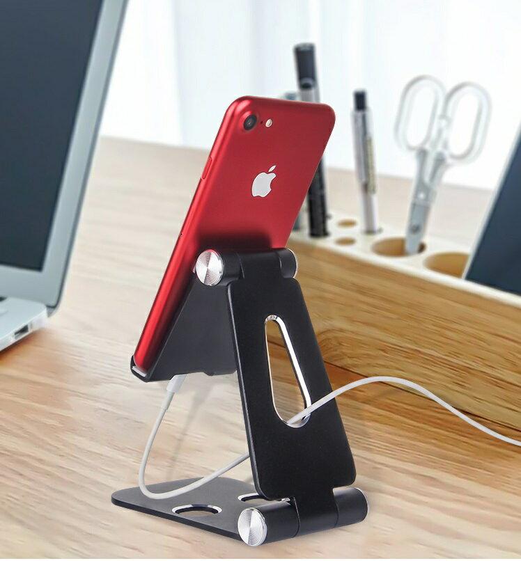 折りたたみスマホスタンド アルミ ポータブルスマートフォンスタンド 角度調整付き 卓上 デスク 軽量 コンパクト iPhone iPad Android タブレット対応 Nintendo Switch 〔 y-1001 y-1002 y-1003 y-1004 y-1005 〕