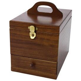 【送料無料】コスメボックス 鏡付き化粧品収納ケース!茶谷産業 日本製 Wooden Case 木製コスメティックボックス 017-513