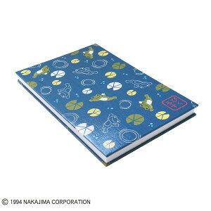 【メール便発送可能】かえるのピクルス 御朱印帳 睡蓮 ネイビー ST-TPC0002