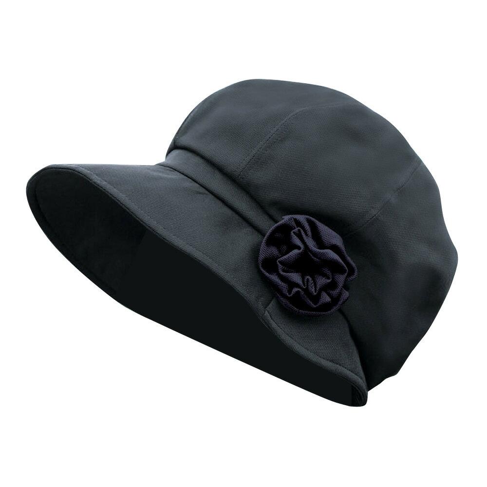 フェリス ふんわりトップキャスケット uvカット帽子 レディース帽子 ブラック