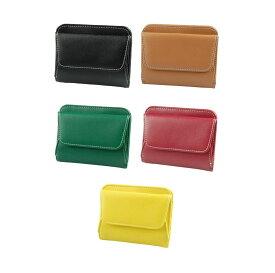 レディース メンズ 小さい財布 牛革!革製コンパクト財布