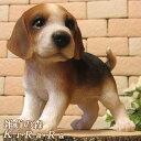 犬 置物 ビーグル スタンド 子犬 スモールサイズ イヌ ドッグ リアルな犬の置物 動物オブジェ ガーデンオー…