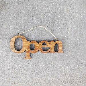 オープン サインプレート プレート『ウッドドアハンギングプレート open』【コンパクト対応5点まで】