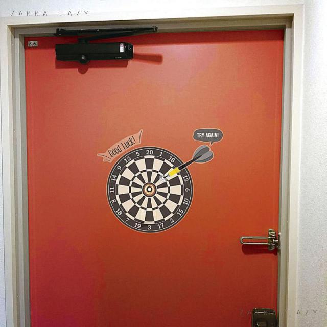 『ドアスコープステッカー ダーツ』ウォールステッカー ステッカー シール ダーツ 玄関 ドア ドアスコープ