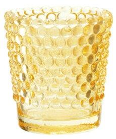 キャンドルホルダー ホビネルグラス アンバー アロマキャンドル用キャンドルグラス カメヤマ