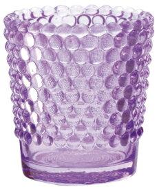 キャンドルホルダー ホビネルグラス アメジスト アロマキャンドル用キャンドルグラス カメヤマ